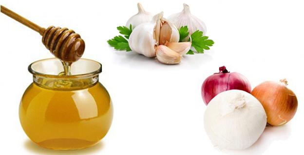 лук, чеснок и мед против выпадения волос